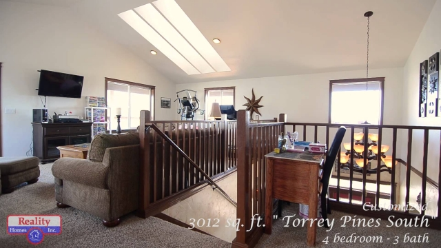 "Tour Reality Homes 3012 Sf ""Torrey Pines South"" custom built home."